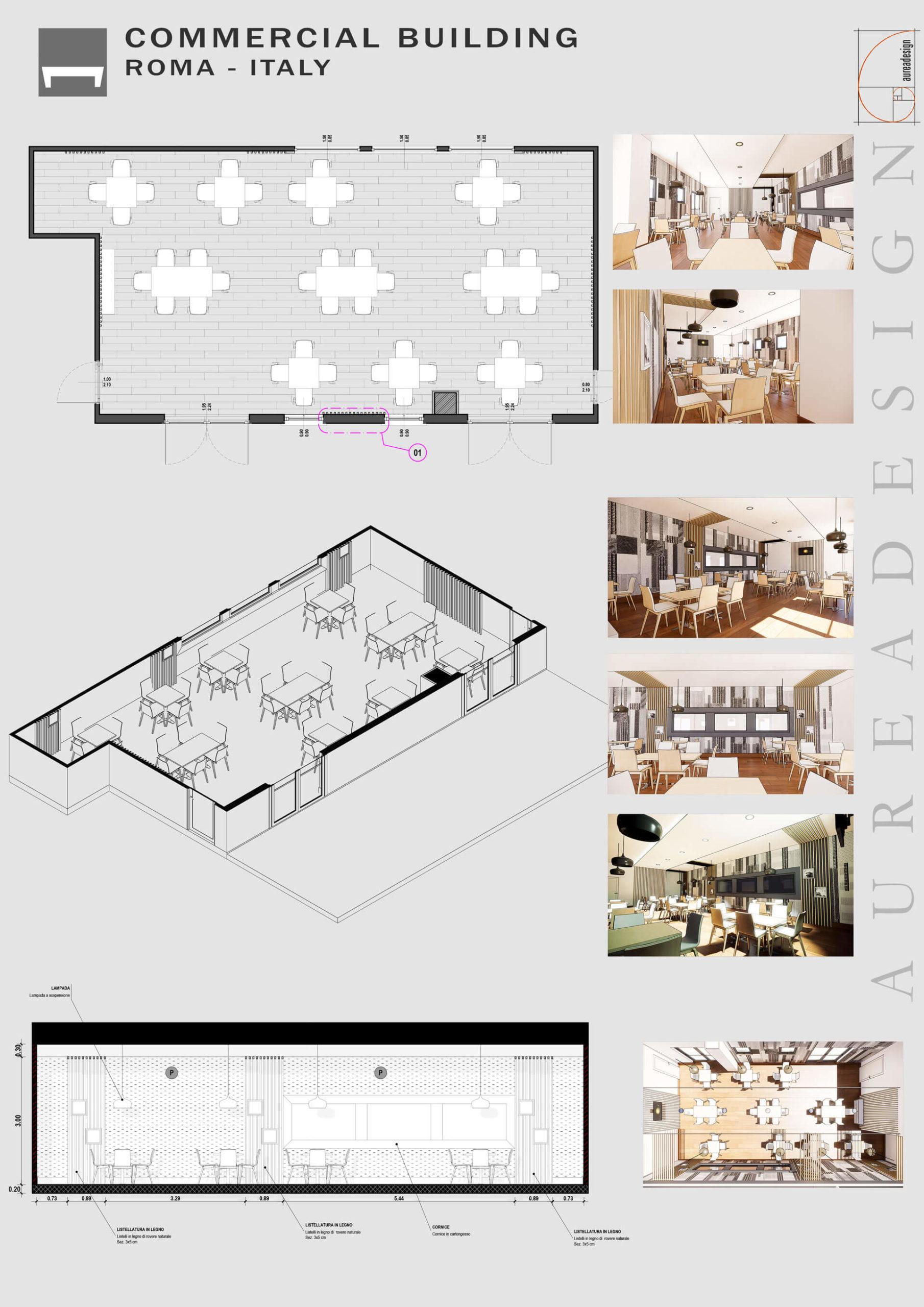Aureadesign Commercial Building Roma